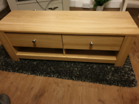Wooden TV stand and unit.
