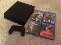 Sony PlayStation PS4 1TB With 4 Games. Fully Boxed.