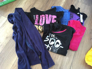 Girls lot of tank tops and tshirts size l-xl