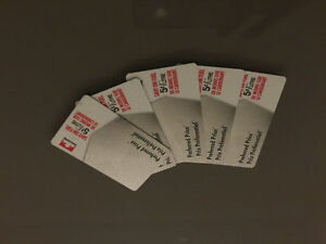 PETRO CANADA, Preferred Price Cards x5 $25 each - $80 FIRM