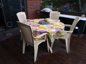 table chaise de patio