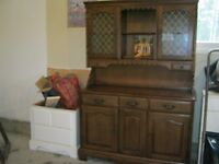 chest of drawers and a kitchen hutch