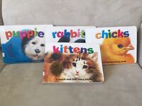 Book set (Touch & feel) puppies, rabbits, chicks & kittens