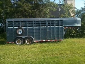 REDUCED  2004 18' CornPro 4-Horse GooseNeck Stock Trailer