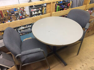 Office Side Chairs and Table