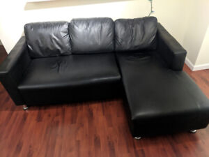 Black Sofa/Chase for Sale
