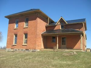 NEW PRICE! country property 0.98acres-large brick farm house