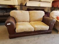 2 seater fabric sofa with pullout sofa bed