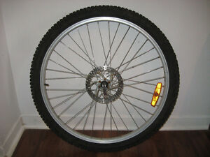 "26"" front wheel with disc brake"