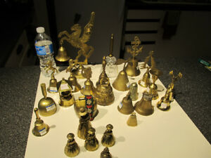 Collection of brass bells.