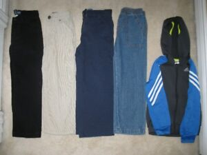 Boys Pants Lot Size 5 (4 Pairs) Plus Adidas Hooded Sweater