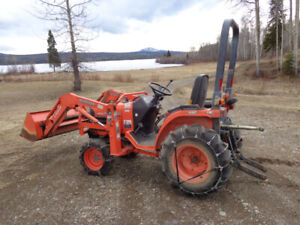 Used Kubota  garden tractor and accessories
