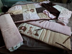 Crib Bedding Set for Baby Girl