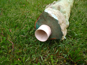 "100 feet of 3"" insulated pvc pipe"