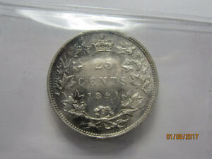 Canadian 25cent 1891 Peterborough Peterborough Area image 2