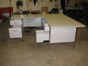 Metal L-shaped Office Desk For Sale
