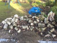 Purbeck stone walling