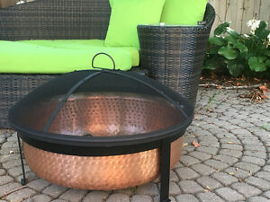 Beautiful NEW hand hammered copper fire pit