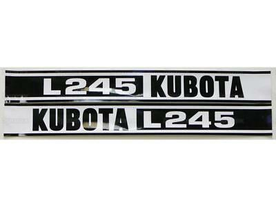 New Kubota L245 Hood Decal Set