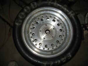 Centreline aluminum front drag wheels and Goodyear tires, 15 in London Ontario image 2