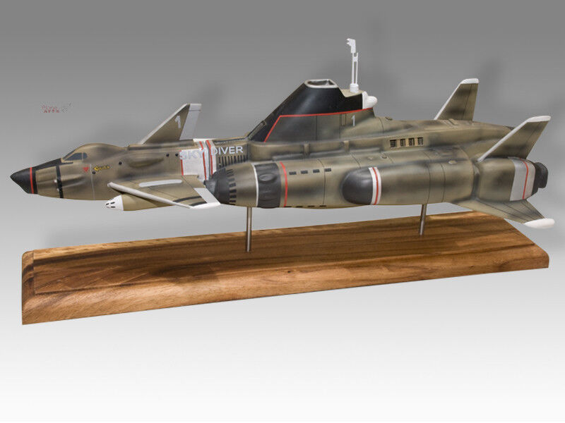 Shadow Skydiver 1 UFO 1973 Gerry Anderson Handcrafted Wood Display Model