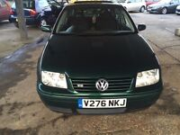 VW Bora, V5 petrol, 2 owners good condition,12months MOT @ £955