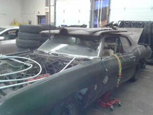 Classic 1969 Pontiac Being Parted Out