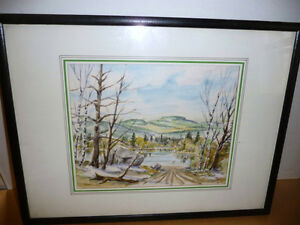 "Kurt Maurer ""Laurentian Spring"" 1978 Original Vintage Watercolor"