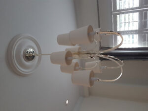 2 Tiered Chrome Chandelier