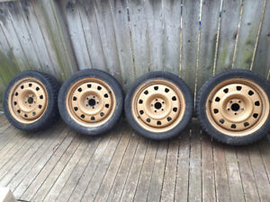 "SET OF 17 "" 225/45R WHEELS WITH STEELIES STUDDED"