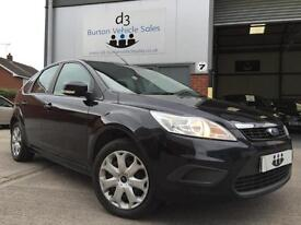 2010/10 Ford Focus 1.8 Style 5dr Petrol Panther Black Met NEW SHAPE