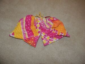 Custom Pink and Yellow Patterned Stirrup Cover