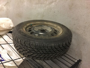 4 Goodyear Winter Tires on Rims 185/65R15 ( very little mileage