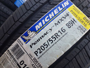 4 X NEW 205-55-R16 ETE MICHELIN PRIMCY MXV4 89H , TAX IN