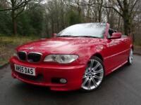 2005 55 BMW 330 3.0TD Cd Sport Convertible..VERY RARE IMOLA RED..STUNNING !!