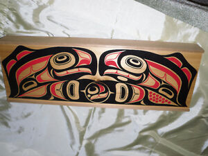 SALE $10.00 Wooden Box with Native Canadian Design