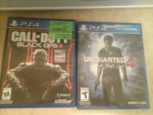 Selling call of duty black ops 3 and uncharted 4: A thief's end