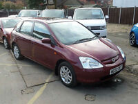2002/02 Honda Civic 1.6i VTEC auto SE Executive