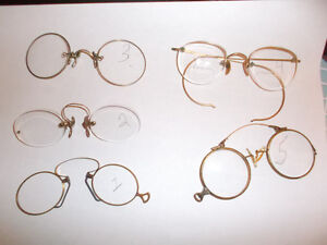 "ASSORTED Antique-Vintage eye glasses ""Pince Nez"""