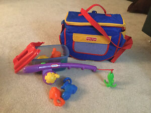 Fisher Price- Travel Booster and Fishing Toy