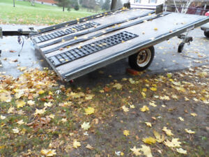 Snowmobile/Atv, Flatbed Tilt and load Double Trailer,Tows Great,