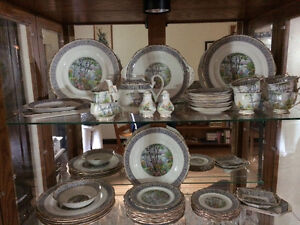 Royal Albert Silver Birch set