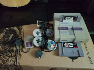 SNES System with Extras