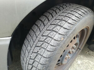 Four Federal Himalaya WS1 Snow Tires on rims