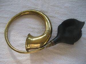 Antique brass car horn