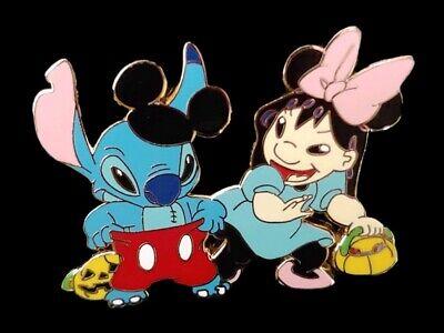 Fantasy Pin - Disney Lilo & Stitch Halloween Costume as Mickey & Minnie
