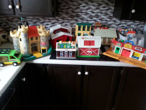 6 Fisher Price Play-sets Plus Extras