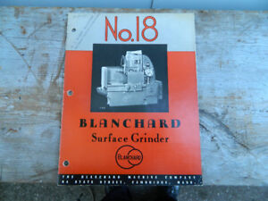 Assorted Blanchard Rotary Grinder Manuals