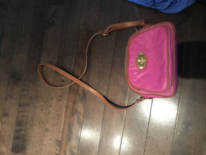 Peruzzi pink leather sholder bag