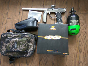 Tourney Ready Paintball Set Empire Axe, z2Loader and CF Tank.